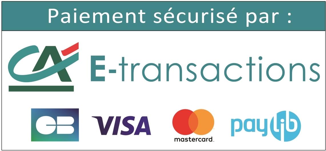 Paiement sécurisé par E-transaction, CB, Visa, Mastercard, Paylib